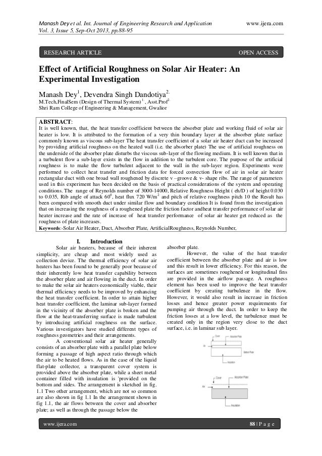 Manash Dey et al. Int. Journal of Engineering Research and Application www.ijera.com Vol. 3, Issue 5, Sep-Oct 2013, pp.88-...
