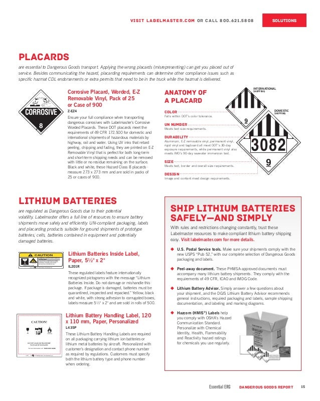 Dangerous Goods Report Vol 3