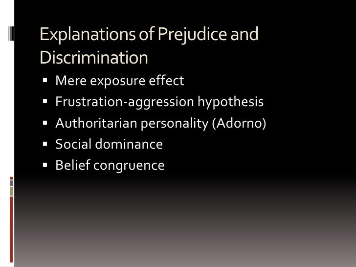 the impact of prejudice and discrimination The impact of emotional recognition on prejudice and discrimination 8 beliefs on an important topic (konrath, novin, & li, 2012) this suggests there is a relationship.