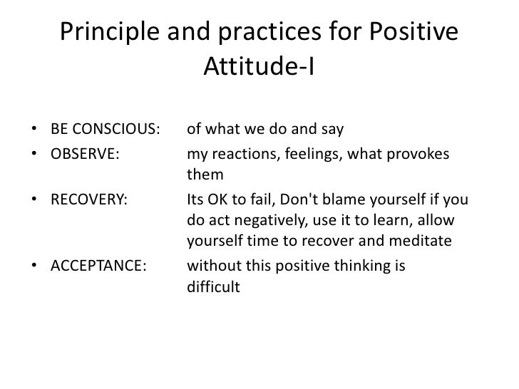 positive attitude amp proactive thinking  20 importance of attitude