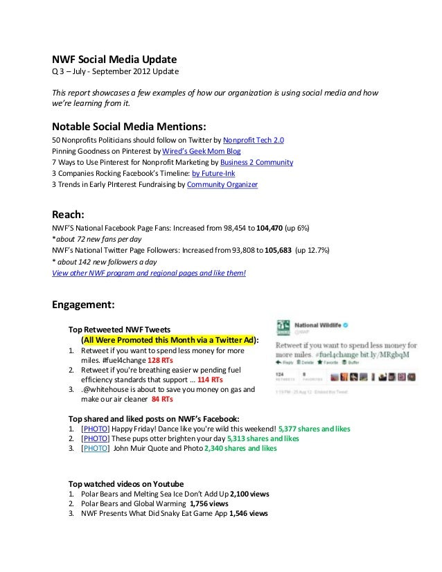 simple quarterly report template