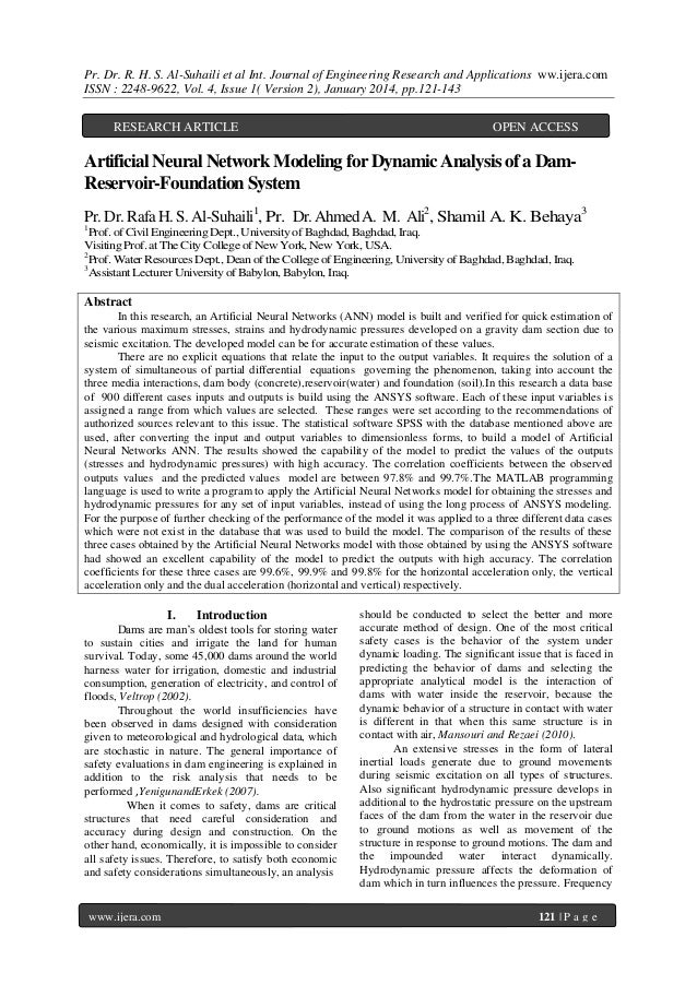 Pr. Dr. R. H. S. Al-Suhaili et al Int. Journal of Engineering Research and Applications ww.ijera.com ISSN : 2248-9622, Vol...