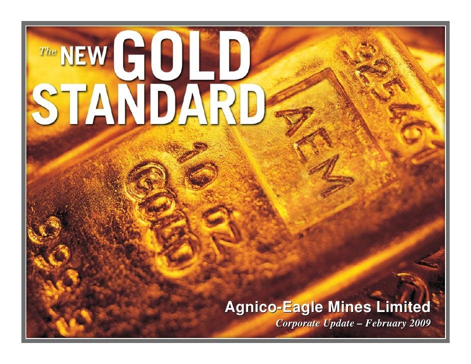 Agnico-Eagle Mines Limited       Corporate Update – February 2009