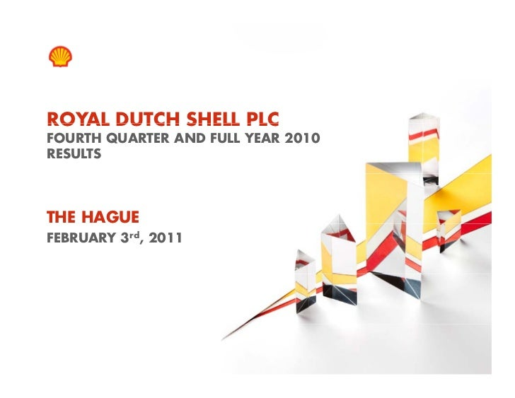 ROYAL DUTCH SHELL PLC    FOURTH QUARTER AND FULL YEAR 2010    RESULTSTHE HAGUEFEBRUARY 3rd, 20111    Copyright of Royal Du...