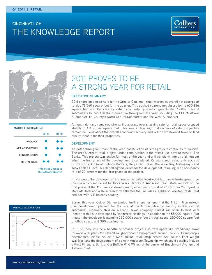 Q4 2011 | RETAILCINCINNATI, OHTHE KNOWLEDGE REPORT                                                                        ...