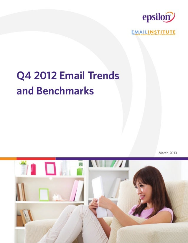 Q4 2012 Email Trendsand BenchmarksMarch 2013