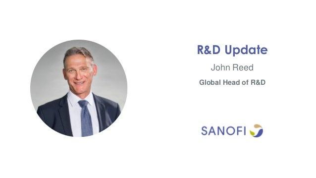 John Reed R&D Update Global Head of R&D