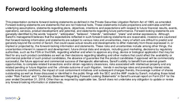 2 Forward looking statements This presentation contains forward-looking statements as defined in the Private Securities Li...