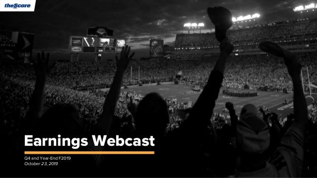 Earnings Webcast Q4 and Year-End F2019 October 23, 2019 1