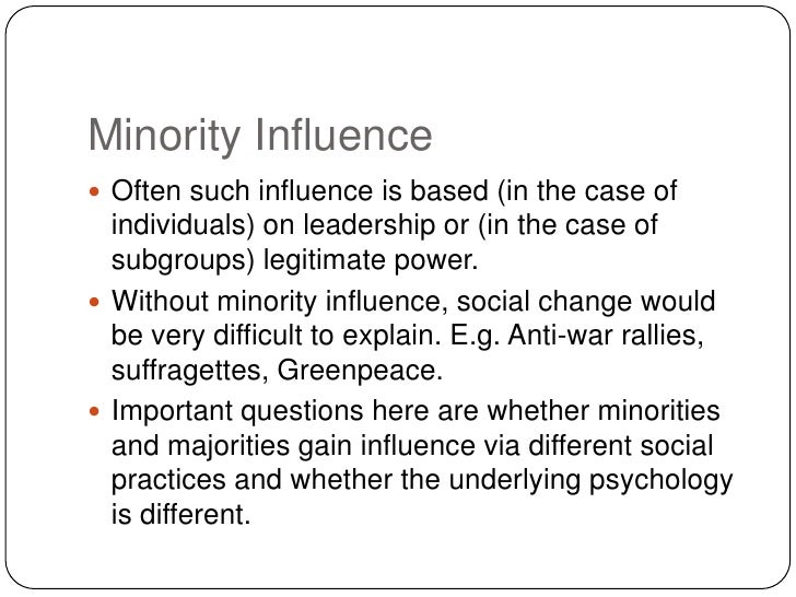 Minority influence and social change
