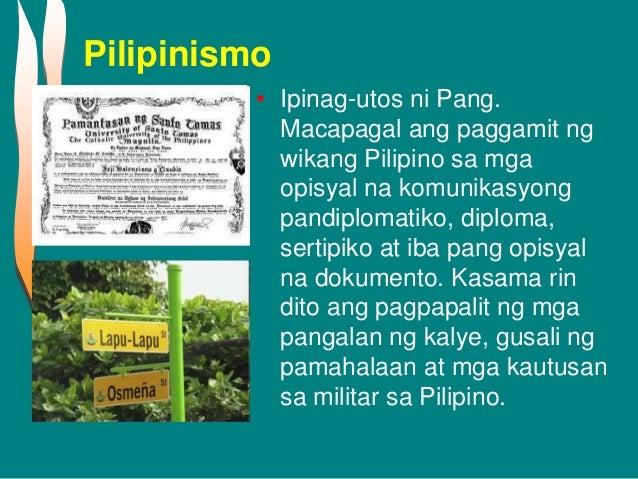 progama ni diosdado macapagal Babang luksa salin ni olivia p dantes ng pabanua ni diosdado macapagal isang taon ngayon ng iyong pagpanaw tila kahapon lang nang ika'y lumisan.