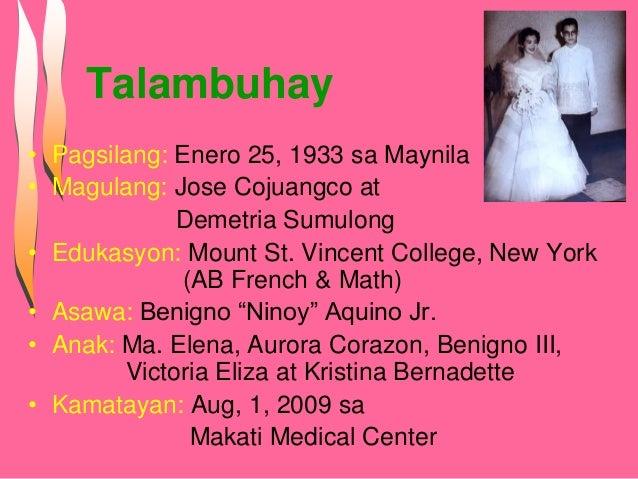 Talumpati ni dating pangulong Corazon Aquino