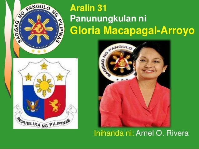 Gloria macapagal arroyo tagalog