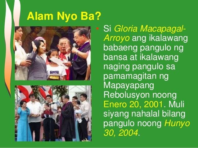 Talambuhay ni datování pangulong gloria macapagal arroyo