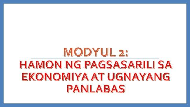 PANIMULA Ang mga unang dekada ng pagsasarili ng Pilipinas ay dumanas ng iba't ibang hamon at pagtatagumpay sa aspektong pa...