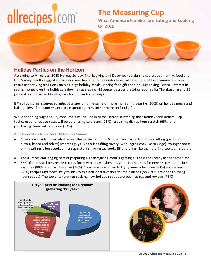 The Measuring Cup                                                        What American Families are Eating and Cooking    ...