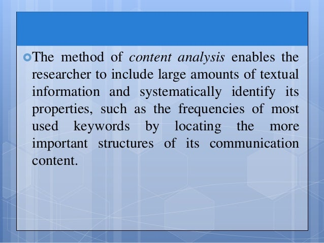 berelson content Content analysis has a long history in research (berelson, 1952) later defined as a research method for the subjective interpretation of the content of text.