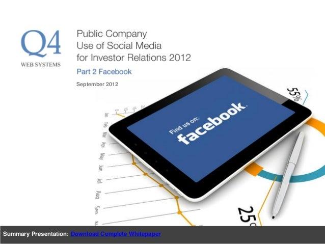 Summary Presentation: Download Complete Whitepaper September 2012
