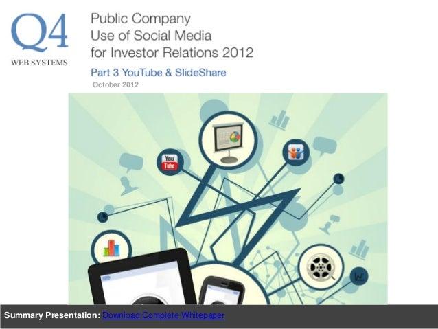 Summary Presentation: Download Complete Whitepaper October 2012