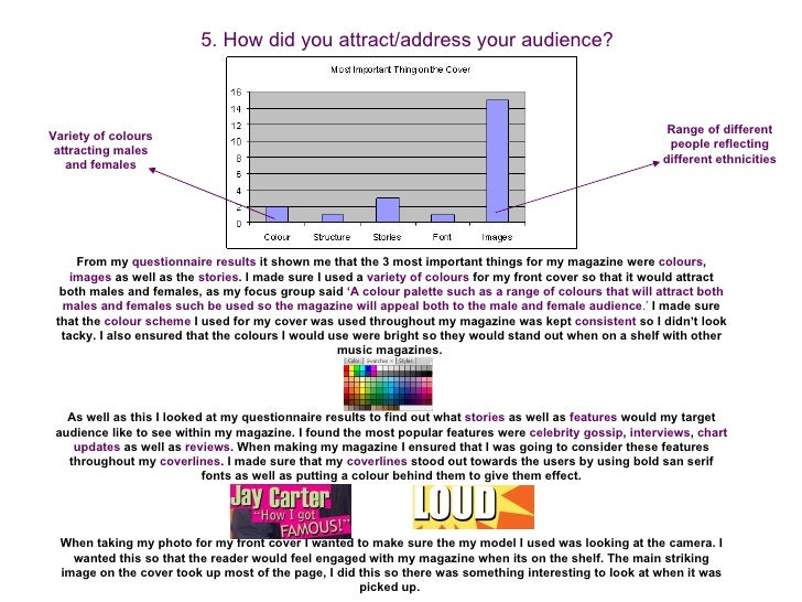 5. How did you attract/address your audience?                                                                             ...