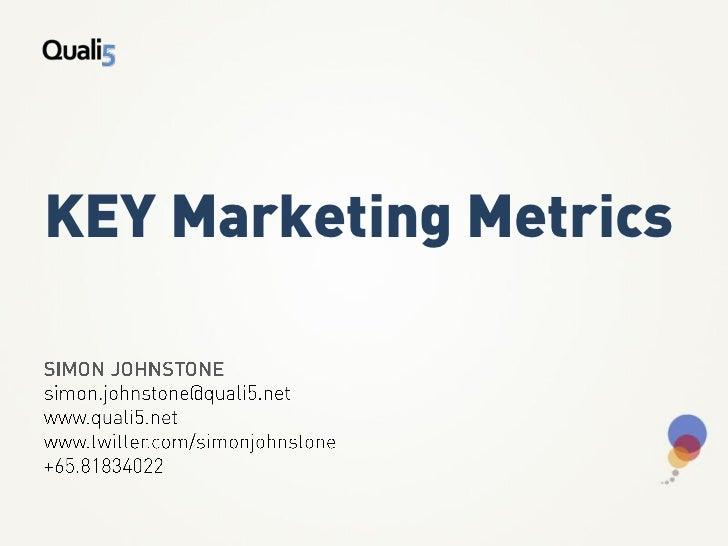 KEY Marketing Metrics