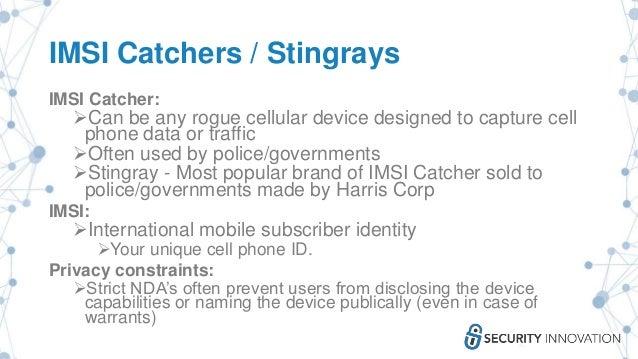 Catching imsi catchers