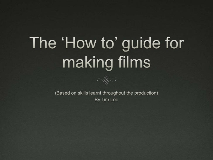 Things that should be done and avoided in              film production   After completing the preliminary task I learnt a...