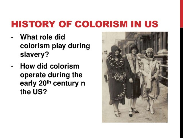 """Colorism: Power Point based on Chapter 5 of """"Race and Racisms"""""""