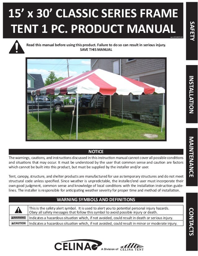 15 x 30 Frame Tent Installation Instructions