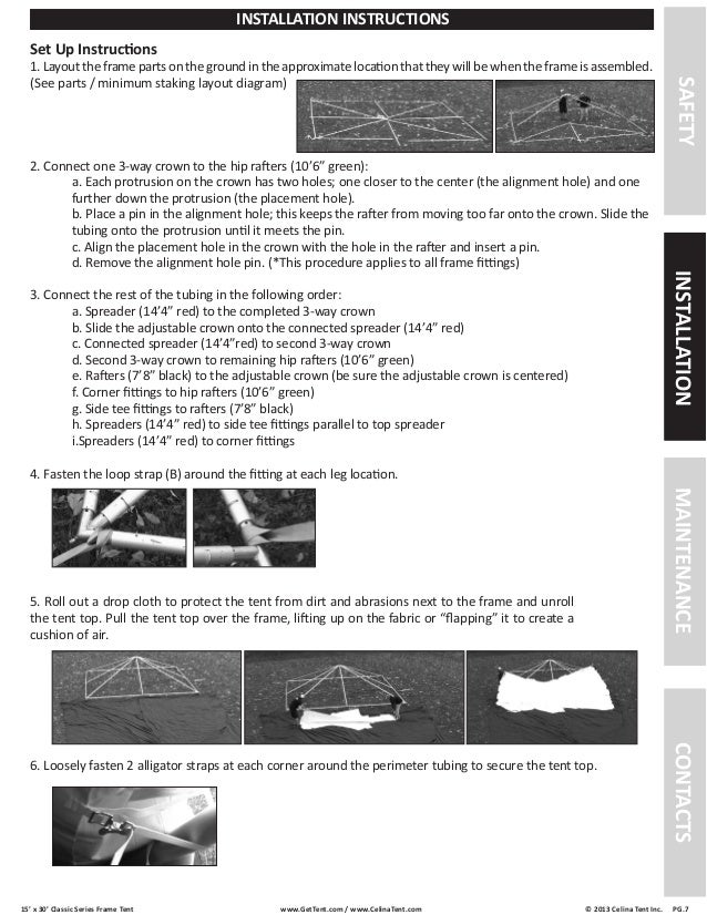 sc 1 st  SlideShare & 15 x 30 Frame Tent Installation Instructions