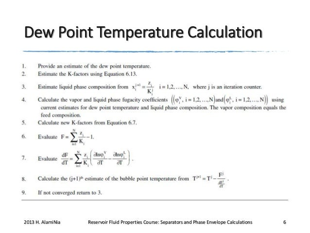Q913 rfp w3 lec 12, Separators and Phase envelope calculations