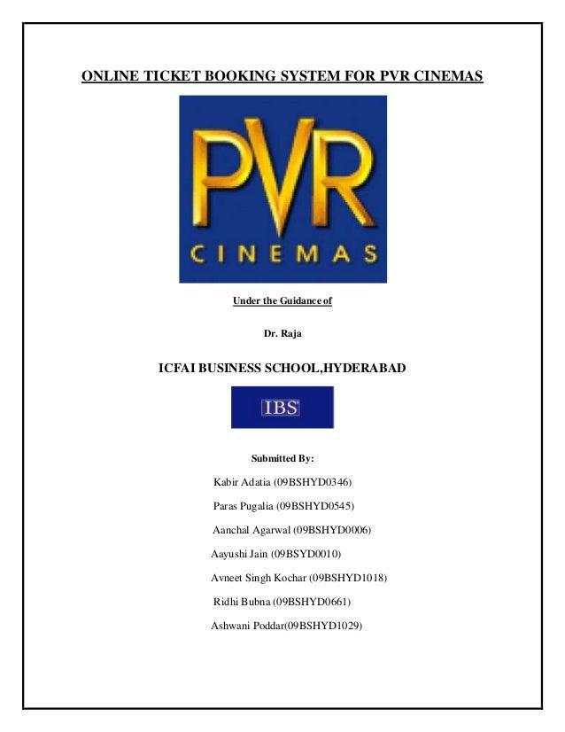 Pvr Cinema Online Booking 29