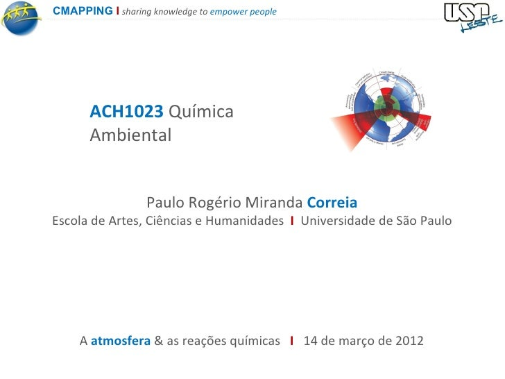 CMAPPING I sharing knowledge to empower people       ACH1023 Química       Ambiental                   Paulo Rogério Miran...