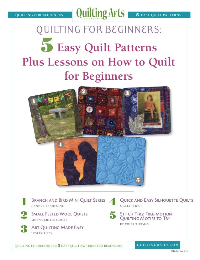 quilting for Beginners                                               5   easy Quilt patterns                   quilting f...