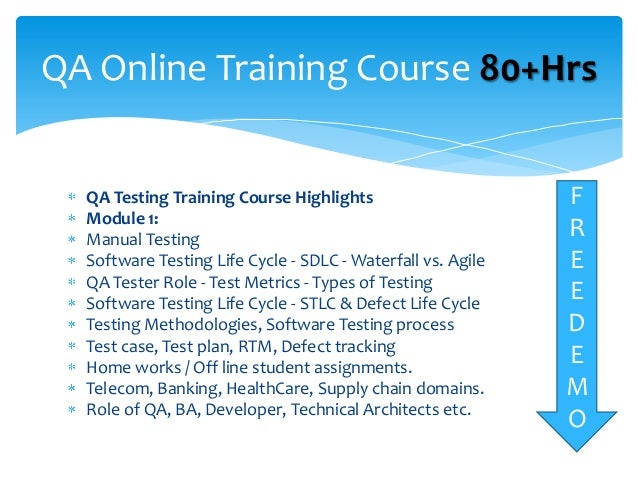 online manual testing course