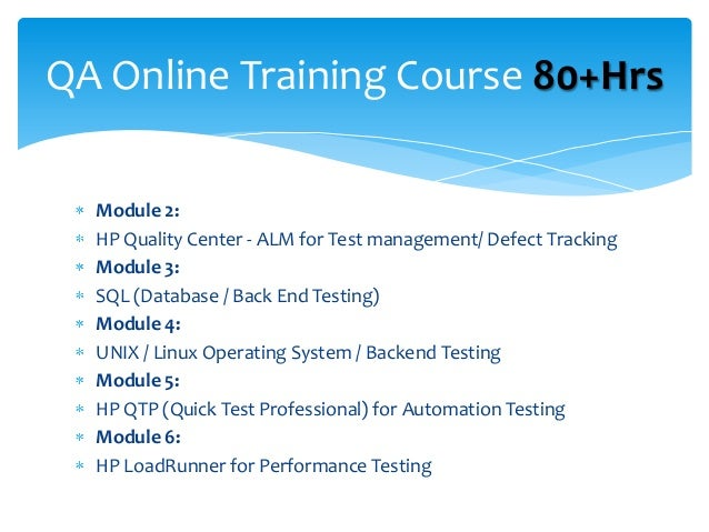 Qa Online Training Placement Free Demo