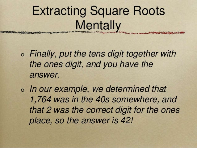 how to find the square root of 17