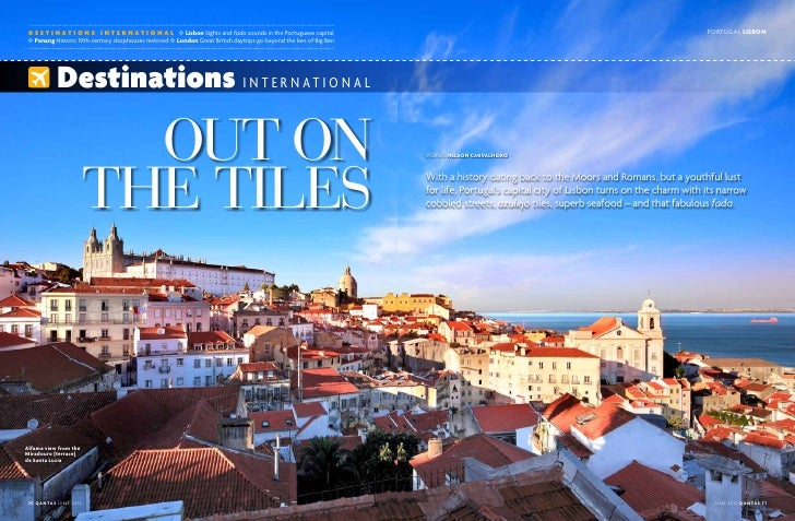 d e s t i n a t i o n s i n t e r n a t i o n a l ✜ Lisbon Sights and fado sounds in the Portuguese capital               ...