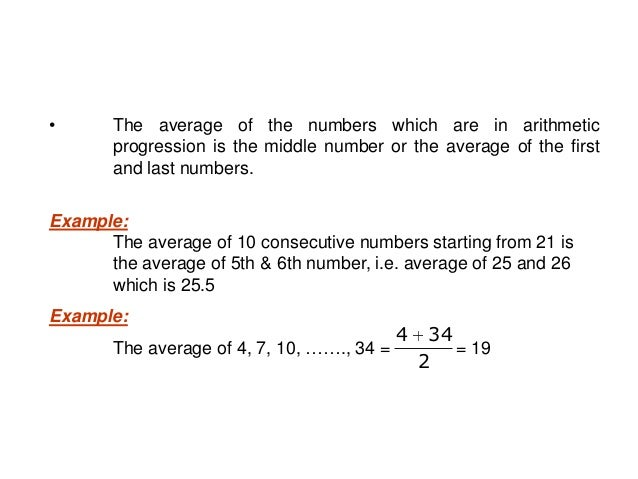 Example: There are 30 consecutive numbers. What is the difference between the averages of first 10 and the last 10 numbers...