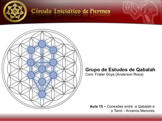 Grupo de Estudos de QabalahCom: Frater Goya (Anderson Rosa)  Aula 15 – Conexões entre a Qabalah e              o Tarot – A...