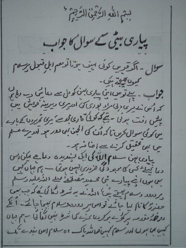 Ahle Qaboor per salam ki haqeeqat(urdu)
