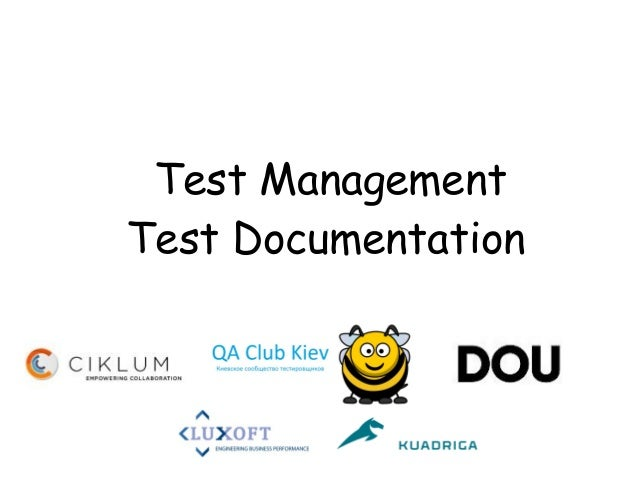 Test ManagementTest Documentation