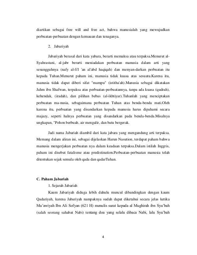 Qadariah Dan Jabariah