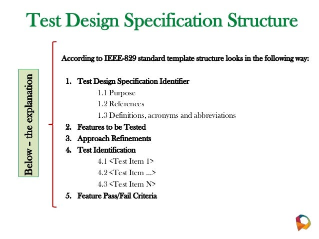 Qa documentation pp for Ieee 829 test strategy template