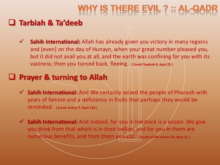  Contemplation & Lesson from Calamities   Sahih International: And Allah presents an example: a city which was safe and ...