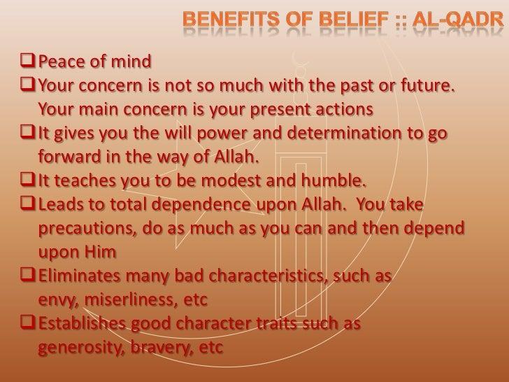 Qadr or Predestination in Islam