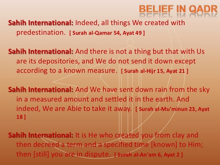  Hadith - Tirmidhi and Ibn Majah, Narrated Aisha :: I  heard Allahs Messenger (saw) saying: He who discusses  about the D...