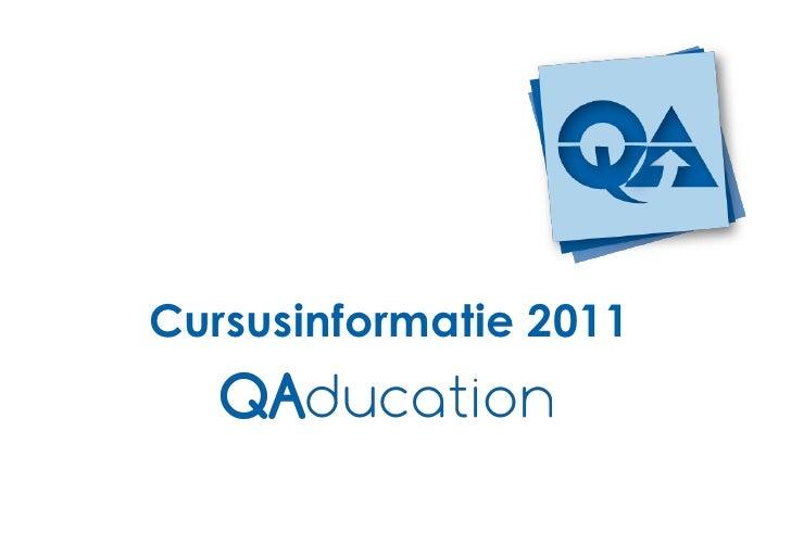 Cursusinformatie 2011