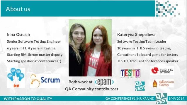 QA Fest 2019. Катерина Шепелєва та Інна Оснач. Що українцям потрібно знати про свої софт скіли Slide 2