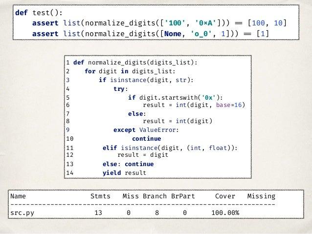 Hypothesis ✤ Возможность генерации данных ✤ Позволяет проверить поведение кода